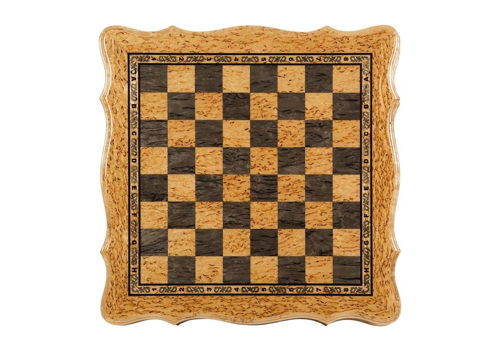 Шахматы подарочные из карельской березы Онего доска