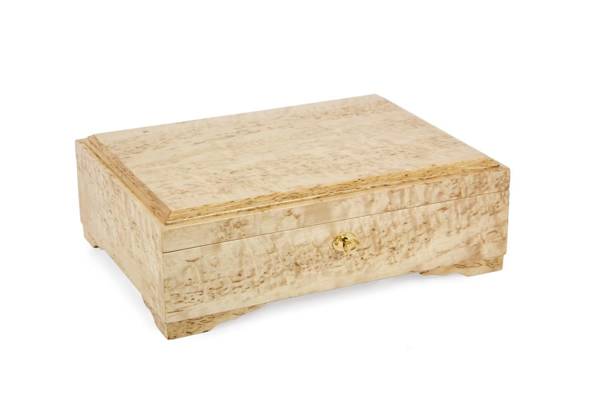 Шкатулка из карельской березы для документов