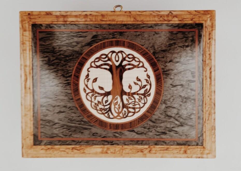 Шкатулка из карельской березы Галант рисунок
