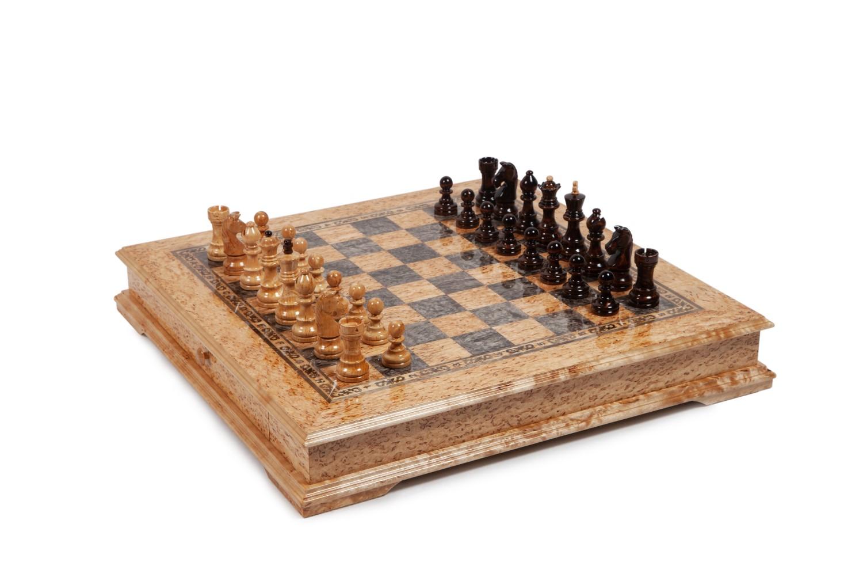 Шахматы из карельской березы Карелия малые