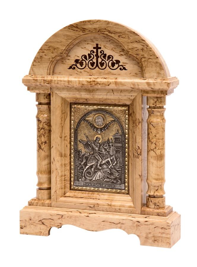 Икона в киоте настольная «Святой Георгий Победоносец»