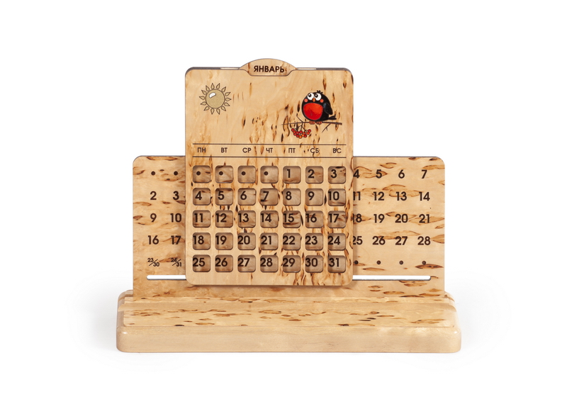 Вечный календарь, настольный «Снегирь»