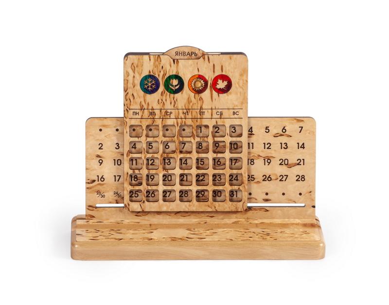 Вечный календарь, настольный «Времена года»