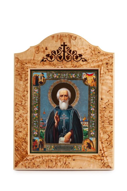 Икона в окладе «Св. Александр Свирский»