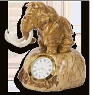 Часы из карельской березы мамонт.