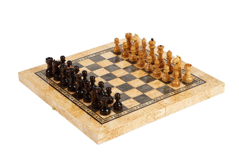 Шахматы подарочные из карельской березы Классика