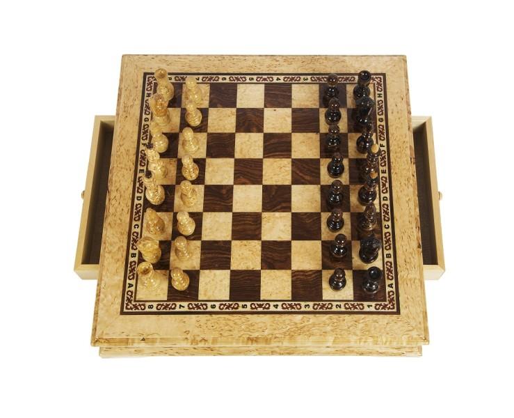 Шахматы из карельской березы Карелия вид 2