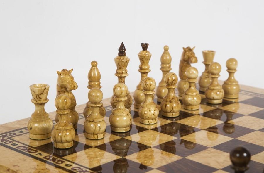 Шахматы из карельской березы Карелия вид 3
