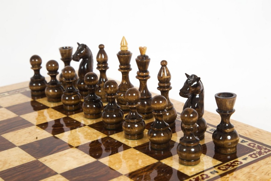 Шахматы из карельской березы Карелия вид 4