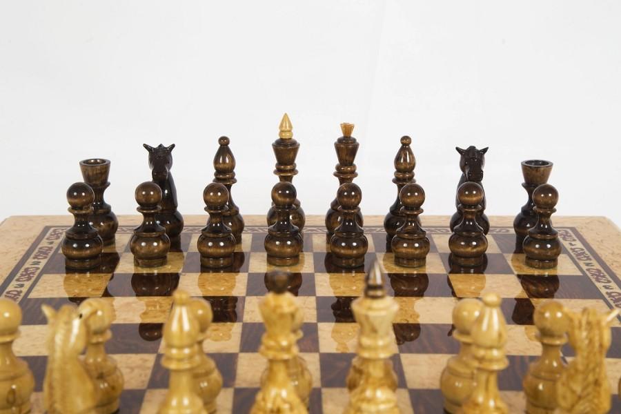 Шахматы из карельской березы Карелия вид 5